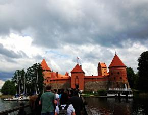 storming the castle at Trakai (Kate Gonzales)